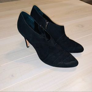 Saks Fifth Ave Cynthia black suede booties
